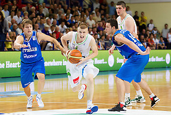 Luka Rupnik of Slovenia during basketball match between National team of Slovenia and Italy in First Round of U20 Men European Championship Slovenia 2012, on July 12, 2012 in Domzale, Slovenia.  (Photo by Vid Ponikvar / Sportida.com)