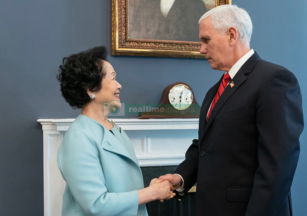March 22, 2019 - US Vice-President Mike Pence met Hong Kong's pro-democracy former government high official, a retired chief secretary Anson Chan on Friday US time in Washington at the invitation of the Trump Administration. ( Note to editors, credit as : Handout by Civic Party HK via ZUMA ). Mar-25,2019 Hong Kong.ZUMA/Liau Chung-ren (Credit Image: © Liau Chung-ren/ZUMA Wire)