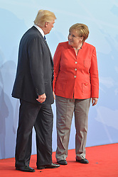 July 7, 2017 - Hamburg, Deutschland - Donald Trump, Angela Merkel.G20 SUMMIT: Official Welcome of the G20 leaders, Hamburg, Germany - 07 Jul 2017.Credit: MichaelTimm/face to face (Credit Image: © face to face via ZUMA Press)