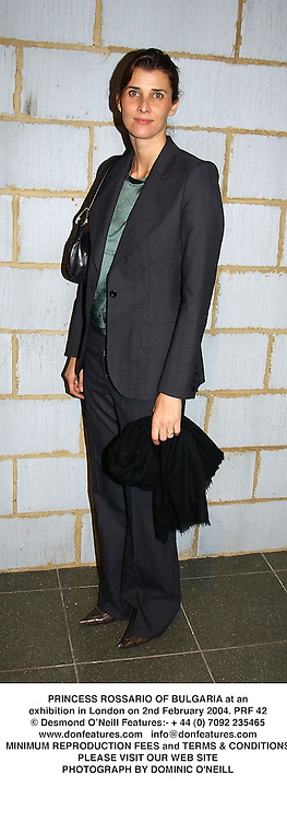 PRINCESS ROSSARIO OF BULGARIA at an exhibition in London on 2nd February 2004.PRF 42