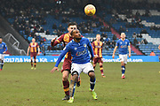 Oldham Athletic and new loanee Signing, Moimbe Pens (3) during the EFL Sky Bet League 1 match between Oldham Athletic and Bradford City at Boundary Park, Oldham, England on 3 February 2018. Picture by Mark Pollitt.