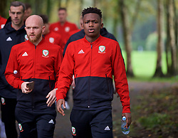 CARDIFF, WALES - Sunday, October 13, 2019: Wales' Rabbi Matondo during a pre-match team walk at the Vale Resort ahead of the UEFA Euro 2020 Qualifying Group E match between Wales and Croatia. (Pic by David Rawcliffe/Propaganda)