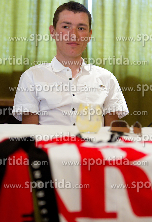 Slovenian rider Jani Brajkovic of Team RadioShack at press conference before cycling race Tour de France 2011, on June 27, 2011, in Crnuce, Ljubljana, Slovenia. (Photo by Vid Ponikvar / Sportida)
