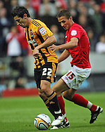Hull Saturday september 18th, 2010: Robert Koren of Hull City trying to keep posetion from Chris Cohen of Nottingham Forrest during the NPower Championship Match at the KC Stadium,Hull. (Pic by Darren Walker/Focus Images)..
