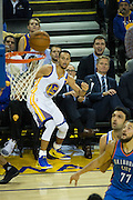 Golden State Warriors guard Stephen Curry (30) watches a missed three point attempt against the Oklahoma City Thunder at Oracle Arena in Oakland, Calif., on November 3, 2016. (Stan Olszewski/Special to S.F. Examiner)