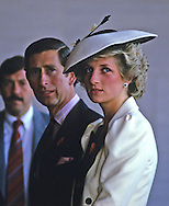 Prince Charles and Lady Diana tour the National Gallery of Art..Photograph by Dennis Brack bb 27