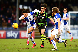 Daniel Leadbitter of Bristol Rovers jostles for the ball with John Marquis - Mandatory by-line: Dougie Allward/JMP - 23/12/2017 - FOOTBALL - Memorial Stadium - Bristol, England - Bristol Rovers v Doncaster Rovers - Skt Bet League One