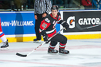 KELOWNA, CANADA - NOVEMBER 9: Brayden Point #19 of Team WHL skates against the Team Russia on November 9, 2015 during game 1 of the Canada Russia Super Series at Prospera Place in Kelowna, British Columbia, Canada.  (Photo by Marissa Baecker/Western Hockey League)  *** Local Caption *** Brayden Point;