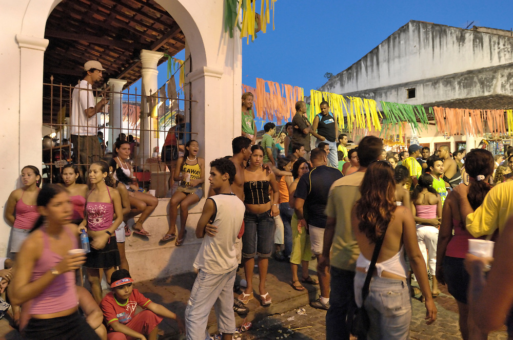Carnival at Colonial town of Olinda,Province of Pernambuco, Northeast, Brazil, South America