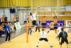 Primoz Vidmar of Calcit Volley during 3rd Leg volleyball match between ACH Volley and OK Calcit Volley in Final of 1. DOL Slovenian National Championship 2017/18, on April 24, 2018 in Hala Tivoli, Ljubljana, Slovenia. Photo by Matic Klansek Velej / Sportida