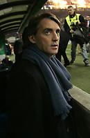 Milano 28-11-04<br /> <br /> Campionato di calcio Serie A 2004-05<br /> <br /> Inter Juventus<br /> <br /> nella  foto Mancini allenatore dell' Inter<br /> <br /> Roberto Manicni Inter Trainer<br /> <br /> Foto Snapshot / Graffiti