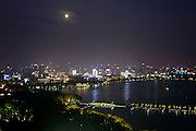 ZAOZHUANG, CHINA - SEPTEMBER 27: (CHINA OUT) <br /> <br /> <br /> Picture shows the full moon above the West Lake during the Mid-Autumn Festival on September 27, 2015 in Hangzhou, Zhejiang Province of China. The Mid-Autumn Day falls on Sep 27 this year.<br /> ©Exclusivepix Media