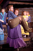 "Cheyenne  Garnick as Martha gets her man, Ephraim played by Matt Helm during ""Seven Brides for Seven Brothers"" at Jackson Hole Playhouse on Thursday night."