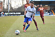 Bury Midfielder, John O'Sullivan on the ball during the Sky Bet League 1 match between Bury and Bradford City at the JD Stadium, Bury, England on 5 March 2016. Photo by Mark Pollitt.