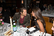 ELIZABETH SALTZMAN AND ARKI BUSSON, Dinner after the opening of Kevin Lynch: Octagon - private view Hamiltons Gallery, Berkeley St. , London, W1, 17 January 2008. -DO NOT ARCHIVE-© Copyright Photograph by Dafydd Jones. 248 Clapham Rd. London SW9 0PZ. Tel 0207 820 0771. www.dafjones.com.