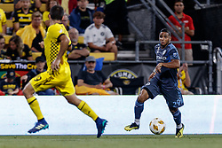 September 1, 2018 - Columbus, OH, U.S. - COLUMBUS, OH - SEPTEMBER 01: Ismael Tajouri (29) of New York City FC looks for an open man in the MLS regular season game between the Columbus Crew SC and the New York City FC on September 01, 2018 at Mapfre Stadium in Columbus, OH. The Crew won 2-1. (Photo by Adam Lacy/Icon Sportswire) (Credit Image: © Adam Lacy/Icon SMI via ZUMA Press)