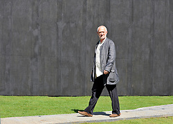 © licensed to London News Pictures. LONDON, UK.  27/06/11. Architect Peter Zumthor walks around his design. Press view of the Serpentine Gallery Pavilion 2011, in Hyde Park today (27 June2011). Mandatory Credit Stephen Simpson/LNP