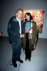 Bella Freud and James Fox  at a private view of Nicolas Pol's paintings entitled 'Mother of Pouacrus' held at The Dairy, Wakefield Street, London WC1 on 14th October 2010.