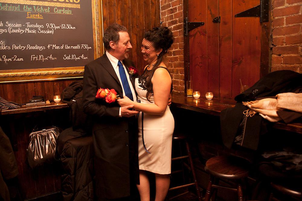 Jessica and Paul's Wedding.  January 15, 2011.  Swift's Hibernian Lounge, NYC.