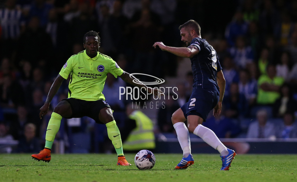 Southend United defender John White during the Capital One Cup match between Southend United and Brighton and Hove Albion at Roots Hall, Southend, England on 11 August 2015.