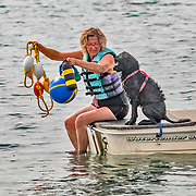 The Portuguese Water Dog Club of Greater Chicagoland (PWDCGC) held their 2017 Water Trial  event took place on Lake Andrea, in Pleasant Prairie, WI. Photography was made August 20, 2017.  The weather was beautiful.  A perfect late summer day for working dogs!