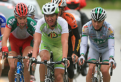 Matija Kvasina of Croatia (Perutnina Ptuj)  and Jure Golcer of Slovenia (LPR Brakes) during 3rd stage of the 15th Tour de Slovenie from Skofja Loka to Krvavec (129,5 km), on June 13,2008, Slovenia. (Photo by Vid Ponikvar / Sportal Images)/ Sportida)
