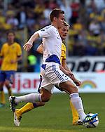 7.6.2011, ROEsunda Stadium, Solna, Sweden..UEFA European Championship 2012 Qualifying match, Sweden v Finland / EM-karsintaottelu Ruotsi - Suomi..Niklas Moisander - Finland..