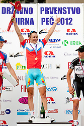 Winner Borut Bozic of Astana after Slovenian National Championship Mirna Pec 2012, on June 24, 2012, in Mirna Pec, Slovenia. (Photo by Urban Urbanc / Sportida.com)