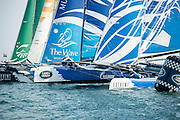 The Wave and Gazprom. Race day one of the Land Rover Extreme Sailing Series regatta in Qingdao, China. 1/5/2014