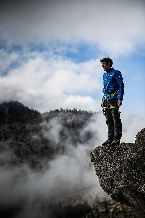 Climber Alex Honnold poses for a portrait at Donner Pass, California, October 29, 2015.
