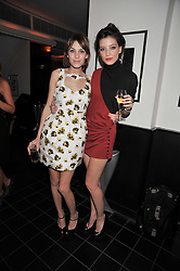 Left to right, ALEXA CHUNG and DAISY LOWE at a dinner hosted by Alexandra Shulman editor of British Vogue in association with Net-A-Porter.com to celebrate 25 years of London Fashion Week and Nick Knight held at Le Caprice, Arlington Street, London on 21st September 2009.