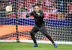 Arsenal goalkeeper David Ospina warms up ahead of the UEFA Europa League, Semi Final, Second Leg at Wanda Metropolitano, Madrid.
