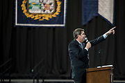 President Thayne McCulloh speaks to first-year students and families at Orientation. (GU photo by Gavin Doremus)