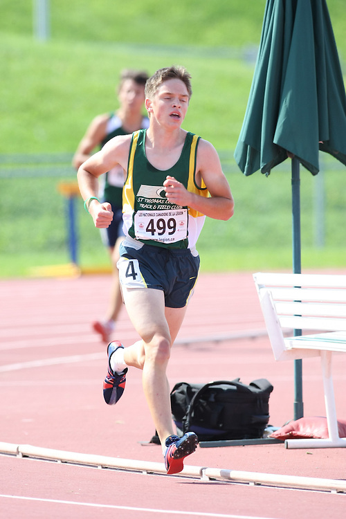 (Sherbrooke, Quebec---10 August 2008) Chris Balestrini competing in the 3000m at the 2008 Canadian National Youth and Royal Canadian Legion Track and Field Championships in Sherbrooke, Quebec. The photograph is copyright Sean Burges/Mundo Sport Images, 2008. More information can be found at www.msievents.com.