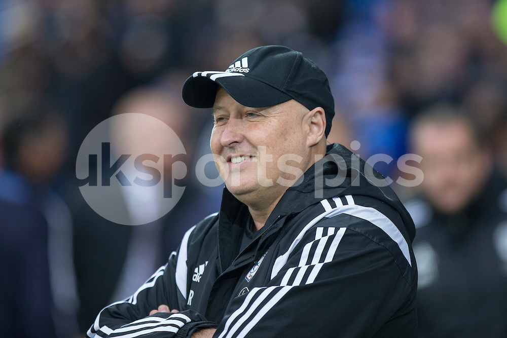 Cardiff City manager Russell Slade during the Sky Bet Championship match between Cardiff City and Burnley at the Cardiff City Stadium, Cardiff, Wales on 28 November 2015. Photo by Mark Hawkins.