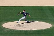 March 18, 2018 - Las Vegas, NV, U.S. - LAS VEGAS, NV - MARCH 18: Carlos Torres (57) of the Indians delivers a pitch during a game between the Chicago Cubs and Cleveland Indians as part of Big League Weekend on March 18, 2018 at Cashman Field in Las Vegas, Nevada. (Photo by Jeff Speer/Icon Sportswire) (Credit Image: © Jeff Speer/Icon SMI via ZUMA Press)