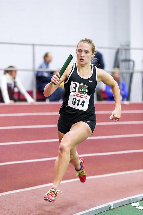 womens 4x400 relay, heat 2, Brown<br /> BU John Terrier Classic <br /> Indoor Track & Field Meet