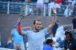 Lucas Pouille (FRA) during his second round match and last gran slam match ever at the 2018 US Open at Billie Jean National Tennis Center in New-York, USA, on August, 30, 2018. Photo by Corinne Dubreuil/ABACAPRESS.COM