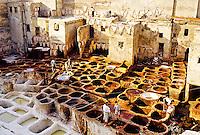 Les Tanneries (Dyer's Quarter), the Medina, Fes el-Bali (Old Fes), Fez (Fes), Morocco