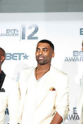 June 30, 2012-Los Angeles, CA : Recording Artist Ginuwine attends the 2012 BET Awards- Media Room held at the Shrine Auditorium on July 1, 2012 in Los Angeles. The BET Awards were established in 2001 by the Black Entertainment Television network to celebrate African Americans and other minorities in music, acting, sports, and other fields of entertainment over the past year. The awards are presented annually, and they are broadcast live on BET. (Photo by Terrence Jennings)