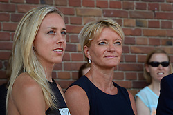 """06-07-2015 NED: Presentatie EK Atletiek """"One year to go"""", Amsterdam<br /> Kick off  EK Atletiek 2016 in het Olympische stadion Amsterdam. Over 1 jaar zal het EK Atletiek plaats vinden / Susan Kuijken, Ellen van Langen"""