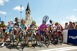 Jani Brajkovic of Astana, Kristjan Koren of Liquias, Bole Grega of Lampre-ISD during Slovenian National Championship Mirna Pec 2012, on June 24, 2012, in Mirna Pec, Slovenia. (Photo by Urban Urbanc / Sportida.com)