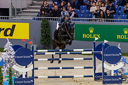 WATHELET Gregory (BEL), Iron Man van de Padenborre<br /> Genf - CHI Geneve Rolex Grand Slam 2019<br /> Prix des Communes Genevoises<br /> 2-Phasen-Springen<br /> International Jumping Competition 1m50<br /> Two Phases: A + A, Both Phases Against the Clock<br /> 13. Dezember 2019<br /> © www.sportfotos-lafrentz.de/Stefan Lafrentz