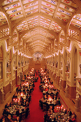 ST.GEORGE'S HALL, WINDSOR CASTLE during at a dinner on 19th November 1998.MME 148