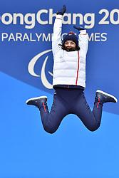 BOCHET_Marie, ParaSkiAlpin, Para Alpine Skiing, Super G, Podium at PyeongChang2018 Winter Paralympic Games, South Korea.