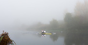 Boston, United Kingdom,  Mo SBIHI and Alex Gregory appear out of the mist as they close in on the finish line. GB Rowing Team October 5km Time Trial, on Sunday  01/11/2015  River Witham,  Lincolnshire <br /> <br /> [Mandatory Credit: Peter SPURRIER: Intersport Images]
