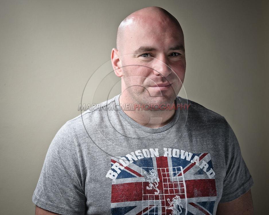 A portrait of UFC President Dana White