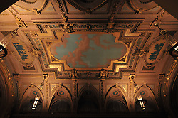 """Well, it's always nice to throw in a nice shot of the ceiling when at Woolsey Hall. I thought I saw my reflection... at """"Century on a Spree: The Whiffenpoof Centennial (1909-2009) Concert"""" at Yale University"""