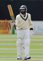 South Africa's Hashim Amla reaches his fifty during a Tour Match at the County Ground, Taunton.