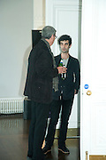 BARRY VERBER; NICKY VERBER Pablo Bronstein, Sketches for Regency Living. Private view. ICA. The Mall. London. 8 June 2011. <br /> <br />  , -DO NOT ARCHIVE-© Copyright Photograph by Dafydd Jones. 248 Clapham Rd. London SW9 0PZ. Tel 0207 820 0771. www.dafjones.com.